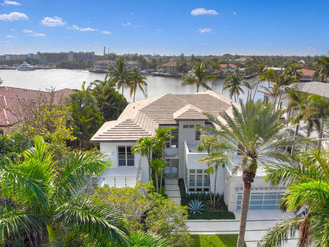 Aerial View with Intracoastal