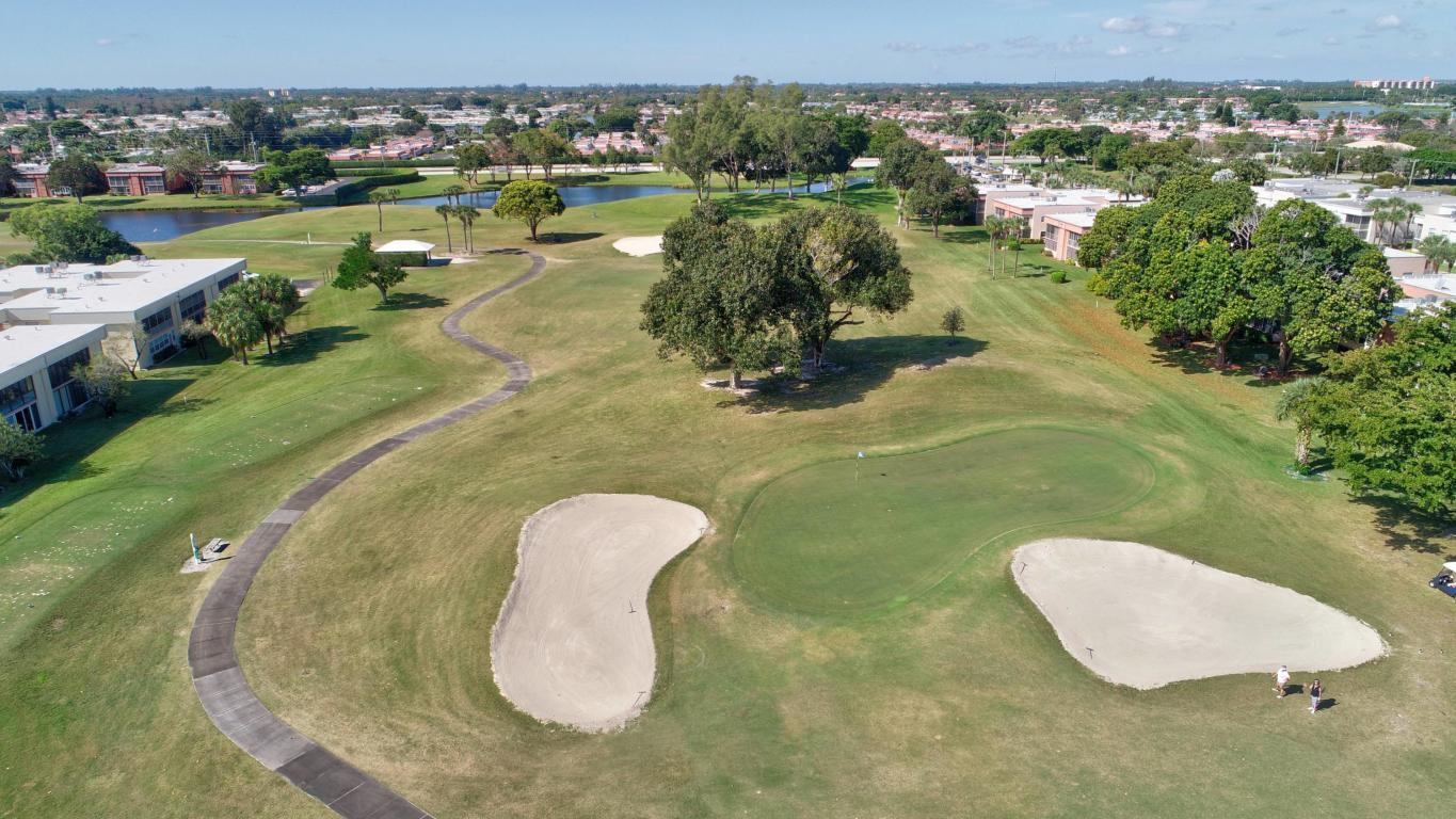 Golf Course Aerial from Flying Drone