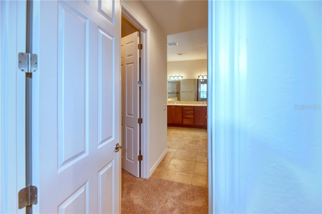 This floorplan features 2 walk-in closets