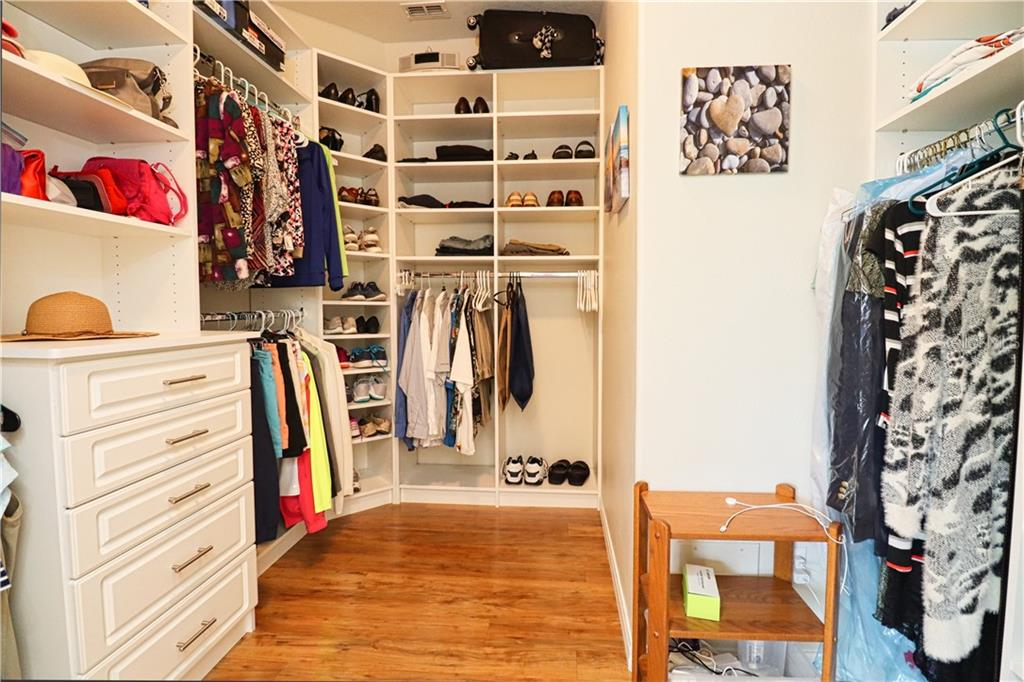 Walk In Closet with built in Closet system