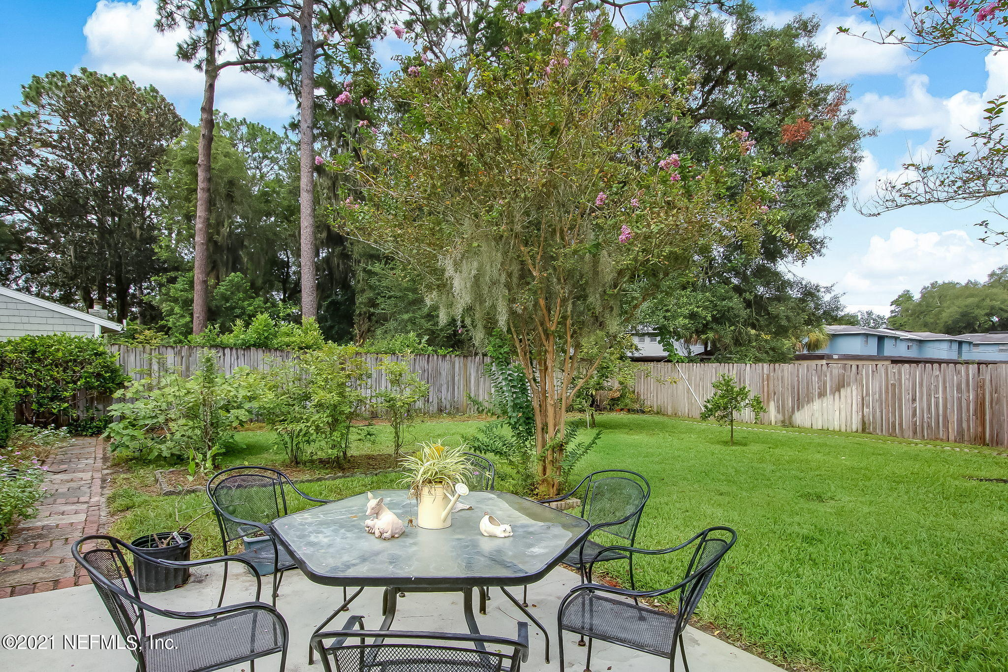 Private Fenced Backyard with large Patio