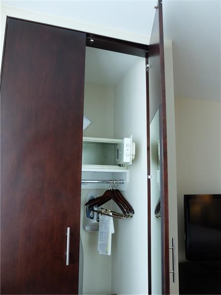 Unit even comes with Safe, Iron and Ironing Board \