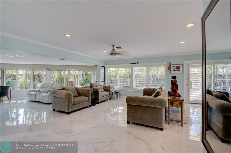The open floor plan gives a lot of flexibility for how your furnish your home. Master suite is to the left